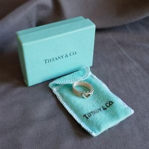 Tiffany & Co. Heart Sz. 6 Woven Mesh Braided Ring